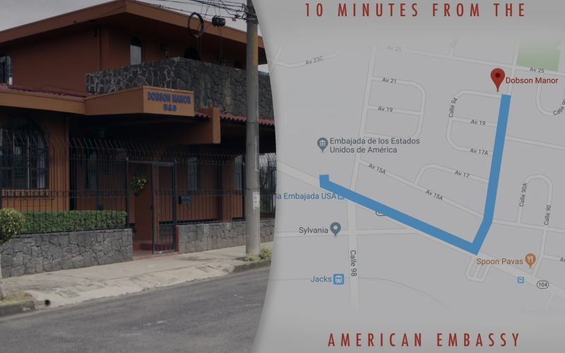 10 minutes walk from the American Embassy